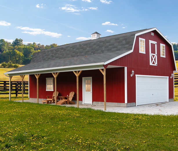 Amish Built Barns : Amish built storage barns in ohio s country