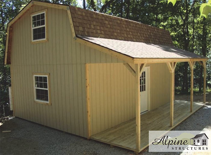 Barn Style Cabin with 6ft Overhang